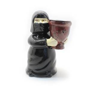 Mother Incense Burner Censer Wearing Black Abaya and Traditional Custom