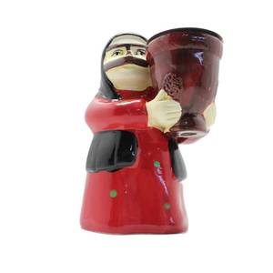 Grandmother In Red Thoub belongs to the wise generation and Traditional Mask Incense Burner (Censer)