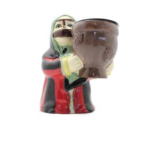 Grandmother In Her Mufahah Dress Striped with Red and Black Incesne Burner (Censer)