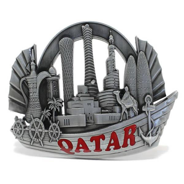 Qatar Dhow Boat Design Landmark Showpiece with Back Stand