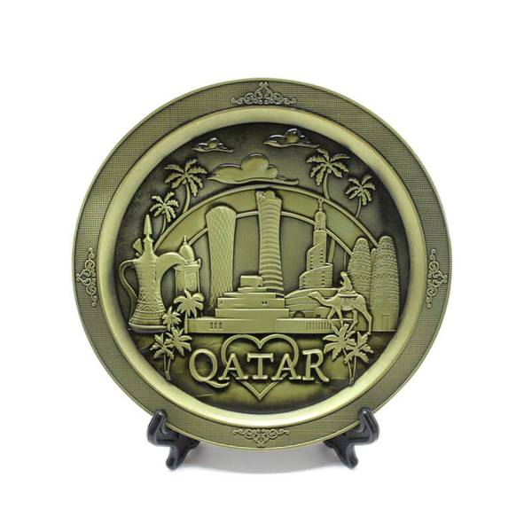 Love Qatar Showpiece Plate for Office or Home Decor