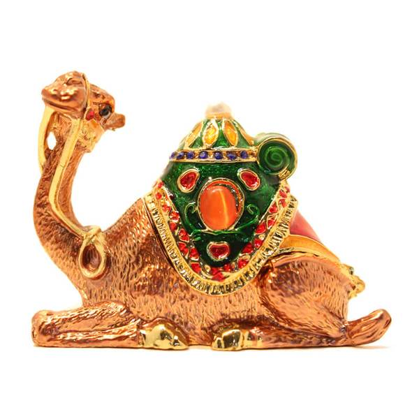 Sitting Camel Showpiece with a hump that can be open for decoration