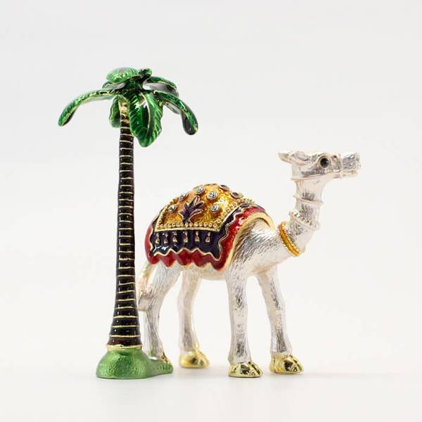 Arabic Camel Showpiece with Palm Tree