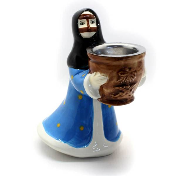 Aunt In Blue Thoub Incense Burner (Censer) Made from Ceramic