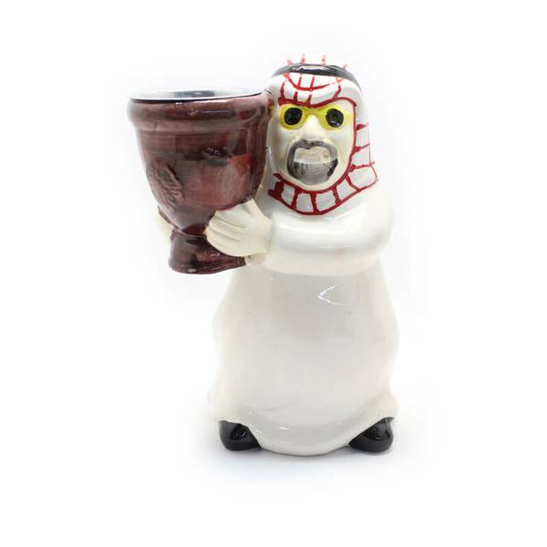 Father Incense Burner Censer Wearing Thobe and Red Shemagh