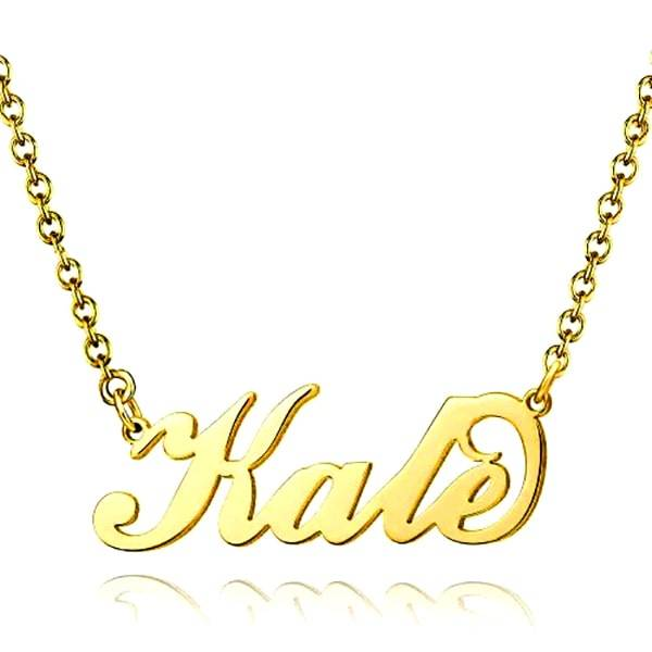 Handmade Name Necklace in Unique English Letters Design