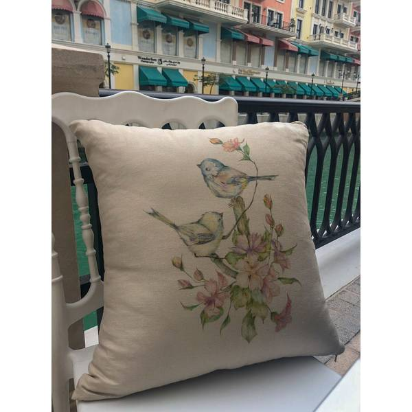 HAND MADE CUSHION WITH LAVENDER APPLICATION